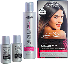 Voňavky, Parfémy, kozmetika Sada - Kativa Anti-Frizz Straightening Without Iron Xtreme Care