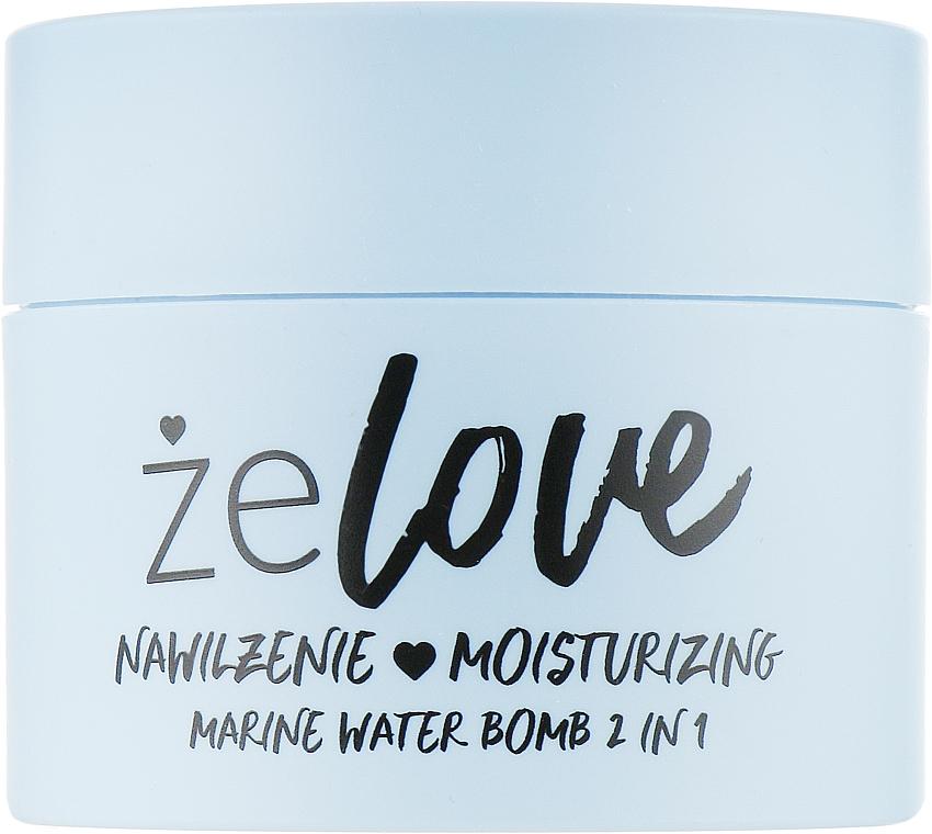 Hydratačný gél na tvár, krk a dekolt - FlosLek ZeLove Moisturizing Marine Water Bomb 2in1