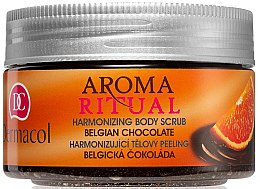 """Voňavky, Parfémy, kozmetika Peeling na telo """"Belgická čokoláda"""" - Dermacol Aroma Ritual Body Scrub"""