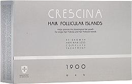 Voňavky, Parfémy, kozmetika Komplex proti vypadávaniu vlasov pre mužov - Crescina Hair Follicular Island Re-Growth + Anti-Hair Loss 1900 Man