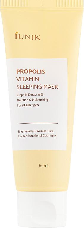 Regeneračná nočná maska s propolisom - iUNIK Propolis Vitamin Sleeping Mask