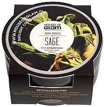Voňavky, Parfémy, kozmetika Vonná sviečka - House of Glam Oak Moss Sage Candle (mini)