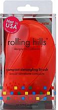 Voňavky, Parfémy, kozmetika Kompaktná kefa na vlasy, červená - Rolling Hills Compact Detangling Brush Red