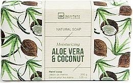 Voňavky, Parfémy, kozmetika Mydlo - IDC Institute Moisturizing Hand Natural Soap Aloe Vera & Coconut