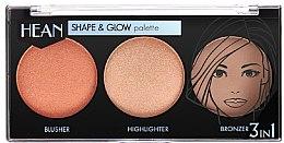 Voňavky, Parfémy, kozmetika Modelovacia paleta na líčenie - Hean Shape & Glow Palette