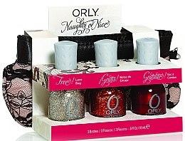 Voňavky, Parfémy, kozmetika Sada lakov - Orly Naughty or Nice (nail/3x18ml + bag)