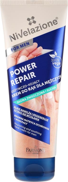 Krém na ruky - Farmona Nivelazione Power Repair Nourishing And Soothing Hand Cream For Men