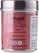 """Voňavky, Parfémy, kozmetika Rastlinová maska na tvár """"Rose"""" - Khadi"""