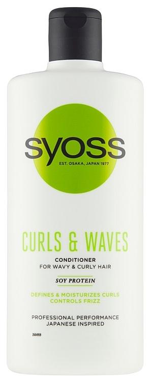 Kondicionér na kučeravé a vlnité vlasy - Syoss Curls & Waves Conditioner With Soi Protein