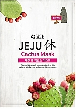 Voňavky, Parfémy, kozmetika Výživná relaxačná textilná maska s kaktusom - SNP Jeju Rest Cactus Mask