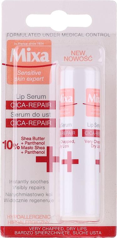 Sérum na pery - Mixa Cica-Repair Lip Serum