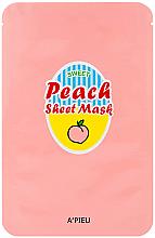 Voňavky, Parfémy, kozmetika Látková maska na tvár s výťažkom z broskýň a jogurtu - A'Pieu Peach & Yogurt Sheet Mask