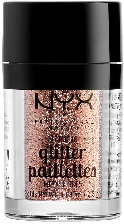 Glitter pre tvár a telo - NYX Professional Makeup Metallic Glitter