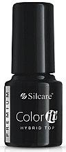 Voňavky, Parfémy, kozmetika Gélový vrchný lak na nechty - Silcare Color IT Premium Hybrid Top Coat Gel