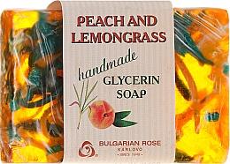 """Voňavky, Parfémy, kozmetika Glycerínové mydlo """"Broskyňa and lemongrass"""" - Bulgarian Rose Peach & Lemongrass Soap"""