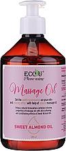 Voňavky, Parfémy, kozmetika Masážny olej - Eco U Massage Oil Sweet Almond Oil