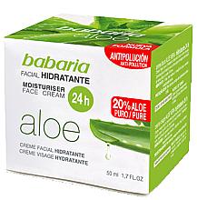 Voňavky, Parfémy, kozmetika Hydratačný krém na tvár s aloe vera - Babaria Aloe Vera 24-Hour Moisturising Face Cream