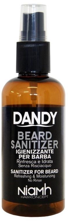 Dezinfekčný sprej na bradu a fúzy - Niamh Hairconcept Dandy Beard Sanitizer Refreshing & Moisturizing