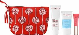 Voňavky, Parfémy, kozmetika Sada - Clarins Baume Beaute Eclair Set (balm/50ml + scr/15ml + lip/gloss/5ml + bag)
