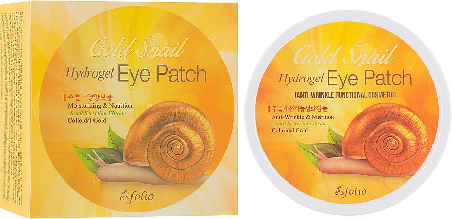 Hydrogélové náplasti na oči s filtratom zo zlatého slimáka - Esfolio Gold Snail Hydrogel Eye Patch
