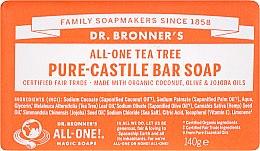 """Voňavky, Parfémy, kozmetika Mydlo """"Čajový strom"""" - Dr. Bronner's Pure Castile Bar Soap Tea Tree"""