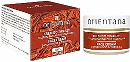 """Voňavky, Parfémy, kozmetika Krém na tvár """"Santalové drevo a kurkuma"""" - Orientana Face Cream Sandalwood & Turmeric"""