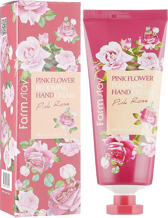 Krém na ruky s ružovým extraktom - FarmStay Pink Flower Blooming Hand Cream Pink Rose