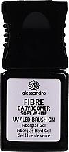 Voňavky, Parfémy, kozmetika Gél na nechty so sklenenými vláknami - Alessandro International Fiber UV/LED Brush On Fiberglass Hard Gel (Soft White )