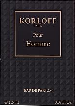 Voňavky, Parfémy, kozmetika Korloff Paris Pour Homme - Parfumovaná voda (vzorka)