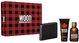 Voňavky, Parfémy, kozmetika Dsquared2 Wood Pour Homme - Sada (edt/100ml + sh/gel/100ml + wallet)