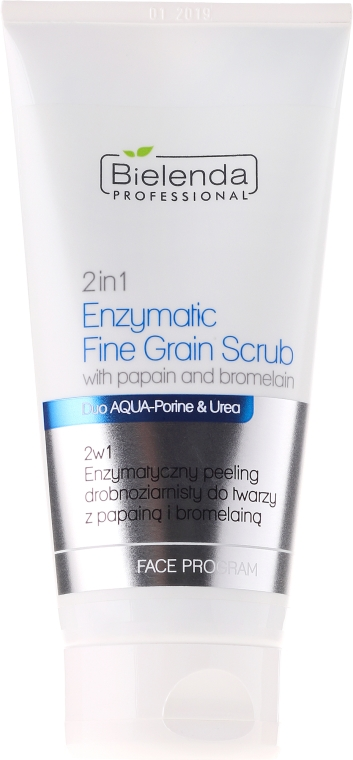 Enzymatický minerálny peeling 2in1 s papaínom a bromelaínom - Bielenda Professional Face Program 2in1 Enzymatic Fine Grain Scrub