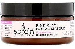Voňavky, Parfémy, kozmetika Maska pre citlivú pokožku s ružovou hlinou - Sukin Pink Clay Facial Masque