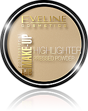 Voňavky, Parfémy, kozmetika Rozjasňujúci kompaktný prášok - Eveline Cosmetics Highlighter Pressed Powder Art Professional Make-up