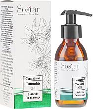 Voňavky, Parfémy, kozmetika Masážny olej s konopným extraktom - Sostar Cannabidiol Oil Cannabis Extract