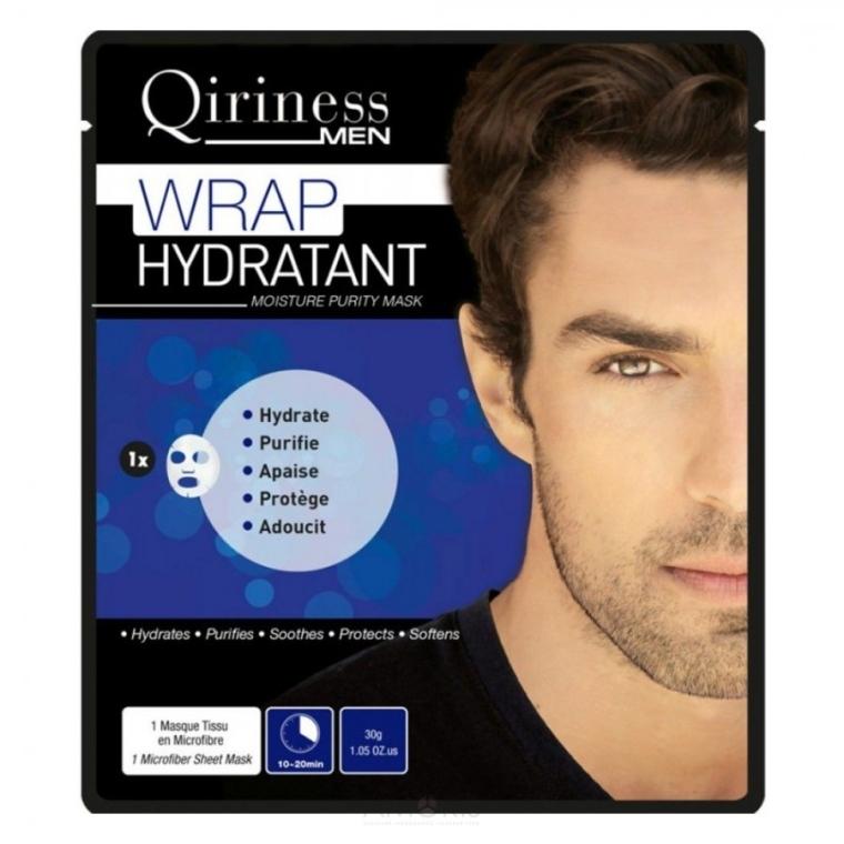 Hydratačná, čistiaca maska pre mužov - Qiriness Wrap Hydratant Moisture Purity Mask — Obrázky N1