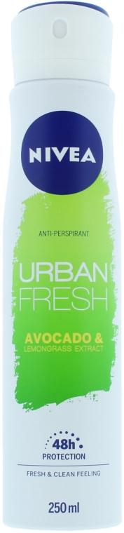 Antiperspirantový dezodoračný sprej - Nivea Urban Fresh Avocado And Lemongrass Anti-Perspirant Spray