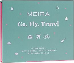 Voňavky, Parfémy, kozmetika Paleta očných tieňov  - Moira Happy Go, Fly, Travel Shadow Palette