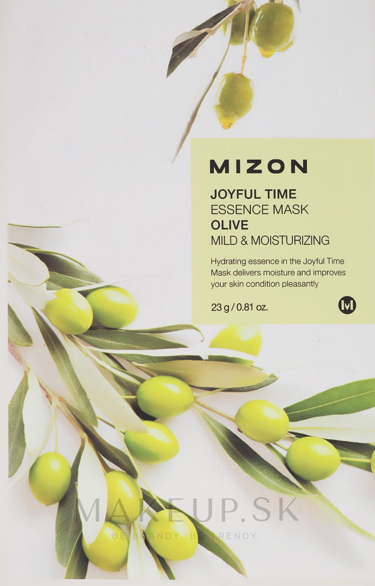 Látková maska s extraktom olivy - Mizon Joyful Time Olive Essence Mask — Obrázky 23 g