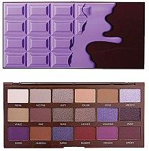 Voňavky, Parfémy, kozmetika Paleta tieňov na viečka, 18 odtieňov - I Heart Revolution Eyeshadow Palette Violet Chocolate