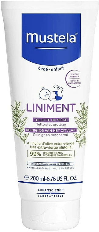 Čistiace mlieko - Mustela Bebe Liniment — Obrázky N6