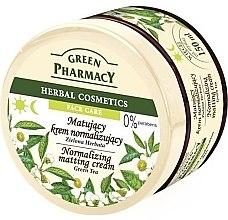 """Voňavky, Parfémy, kozmetika Matujúci krém na tvár """"Zelený čaj"""" - Green Pharmacy Normalizing Matting Cream"""