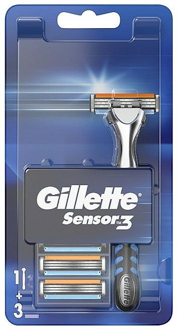 Holiaci strojček s 3 vymeniteľnými kazetami - Gillette Sensor 3