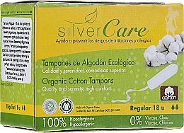 """Voňavky, Parfémy, kozmetika Tampóny z organickej bavlny """"Regular"""", 18ks - Masmi Silver Care"""