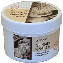 Voňavky, Parfémy, kozmetika Masážny krém s hnedou ryžou - Lebelage Brown Rice Cleaning Massage Cream