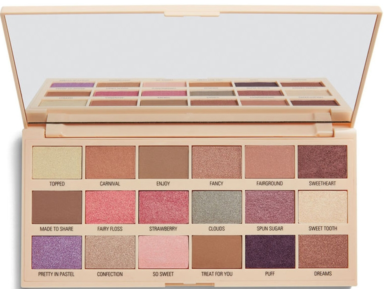 Paleta očných tieňov - I Heart Revolution Cotton Candy Chocolate Eyeshadow Palette
