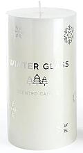 Voňavky, Parfémy, kozmetika Vonná sviečka, biela, 9x13cm - Artman Winter Glass