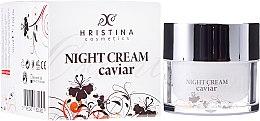Voňavky, Parfémy, kozmetika Spevňujúci nočný krém na tvár s kaviárom - Hristina Cosmetics Orient Caviar Night Cream