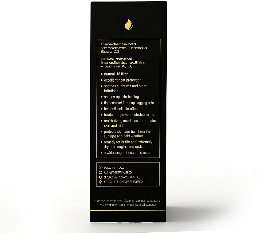 Makadamiový olej - Nanoil Body Face and Hair Macadamia Oil — Obrázky N5