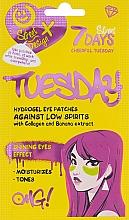 Voňavky, Parfémy, kozmetika Hydrogélové náplasti na pokožku okolo očí s kolagénom a banánovým extraktom - 7 Days Cheerful Tuesday Hydrogel Eye Patches