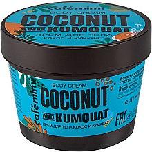 """Voňavky, Parfémy, kozmetika Telový krém """"Kokos a Kumquat"""" - Cafe Mimi Body Cream Coconut And Kumquat"""